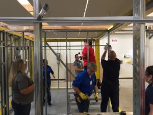 L&W Supply engaging in hands-on training with USG